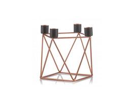 Geometrische Kerzenhalter - kupfer