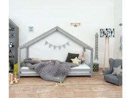 Häuschen Kinderbett Sidy - grau
