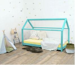 Häuschen Kinderbett Tery - türkis