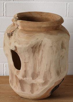 Vase NATUR Wurzelholz-Teak H:36cm