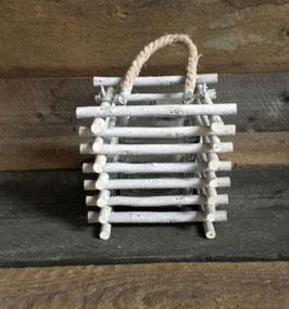 Laterne aus Holzstäbchen H13cm