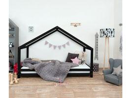 Häuschen Kinderbett Sidy - schwarz