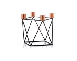 Geometrische Kerzenhalter - schwarz