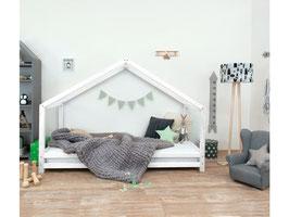 Häuschen Kinderbett Sidy - weiss