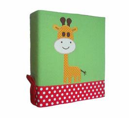 Ordnerhülle / Sammelmappe Giraffe (gelb)
