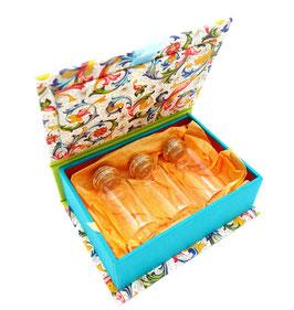 Schachtel TÜRKIS mit Gläschen
