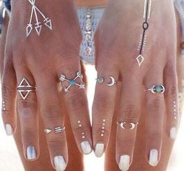 Pack anillos geométricos