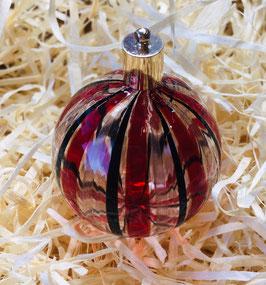 Christbaumkugel rot schwarz mit Avventurin