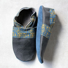 Chaussons BABOUCHES ADULTE Gris chiné