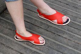 Sandales TANJA Corail ou Camel