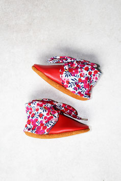 """Chaussons DERBY """" Rouge Myrtille"""""""