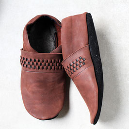 Chaussons BABOUCHES ADULTES Echic Marron