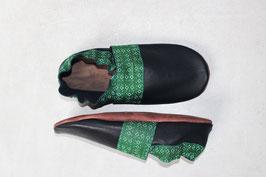 Chaussons BABOUCHES ADULTE Noir losange vert