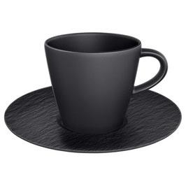 Espressotasse mit Unterteller 2-teilig 0.10lt. V&B Manufacture Rock