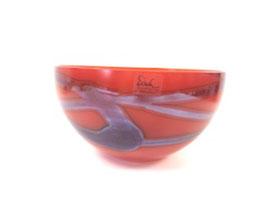 Schale orange Eisch - Unikat mundgeblasen