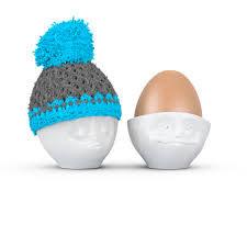 Eierbecher Mütze türkis/grau