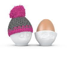 Eierbecher Mütze pink/grau