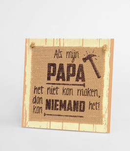 Wooden sign - Papa