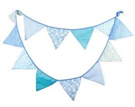 Wimpelkette Girlande aus Stoff Cake Smash blau