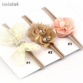 Elastisches Haarband für besondere Anlässe beige