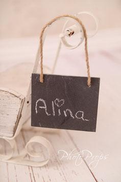 Kleine Tafel Prop für Fotografie Neugeboren