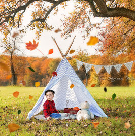 Wunderschönes Tipi Zelt mit Girlande