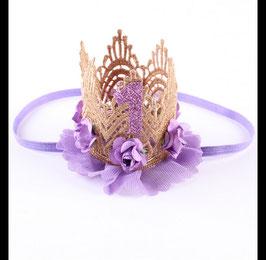 Haarband Krone für 1. Geburtstag