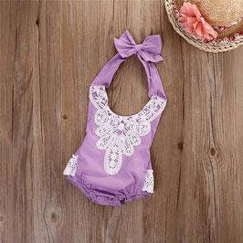 Rüschenbody für Baby Fotografie Vintage lila