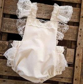 Vintage Rüschenbody für Baby Fotografie creme