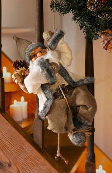 Kletternde Dekofigur Weihnachtsmann / Nikolaus
