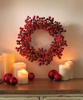 Deko Weihnachtskranz rote Beeren
