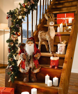 Große Dekofigur Weihnachtsmann / Nikolaus