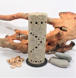 Steinheizung aus rotem Granit