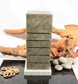 Steinheizung aus grünem Granit