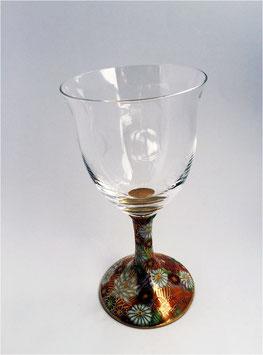 九谷焼 花詰ワイングラス