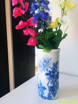 有田焼 染付薔薇花瓶