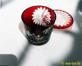 江戸切子 蓋ちょこ 江戸菊