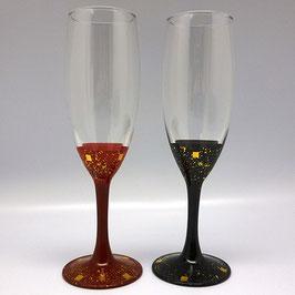 秀衡塗 銀河ペアワイングラス