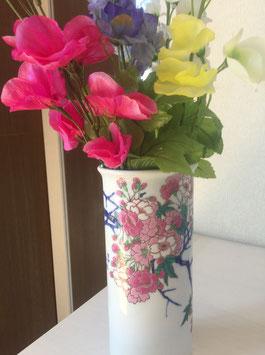 染錦金彩桜絵 花瓶