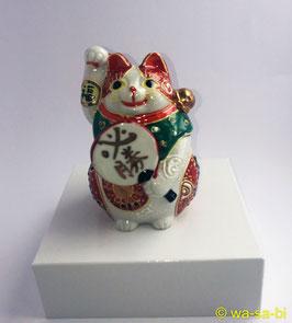 """九谷焼 """"必勝"""" 招き猫"""