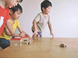 マストロジェペット 木製玩具 ガレージ