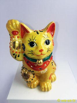 """九谷焼 """"イエロー"""" 招き猫"""