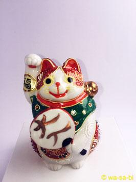 """九谷焼 """"大入"""" 招き猫"""