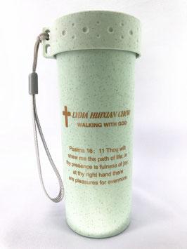 Wheat Straw Wheat Scented Fiber Single Layer Second Generation 400ml Cup (Green) 小麦秸秆麦香纤维单层二代400ml 杯(绿色)
