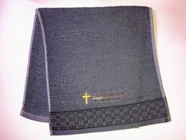 Plain Weaving Fashion Soft  Cotton Embroidery  Bath Towel 28 * 13 inches( Dark Gray ) 平织时尚柔软纯棉刺绣浴巾 28* 13英寸(深灰色)
