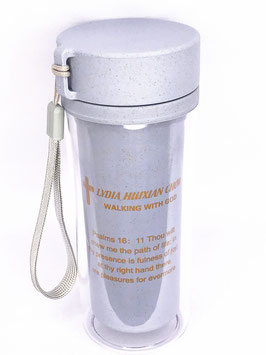 Wheat Straw Wheat Scented Fiber Double Layer Transparent Insulation Anti-scalding Cup (Blue) 小麦秸秆麦香纤维双层透明保温防烫杯(蓝色)