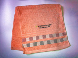 Vertical Bar Fashion Soft  Cotton Embroidery  Bath Towel 28 * 13 inches( Pink ) 竖条时尚柔软纯棉刺绣浴巾 28* 13英寸(粉色)