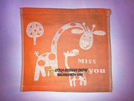 Three Layers Of Gauze Handkerchief 9.5 * 9.5 inches( Orange ) 三层纱布小方巾手帕 9.5* 9.5英寸(橙色)