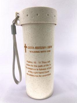 Wheat Straw Wheat Scented Fiber Single Layer Second Generation 400ml Cup (Beige ) 小麦秸秆麦香纤维单层二代400ml 杯(米色)