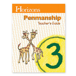 HHorizons 3rd Grade Penmanship Teacher's Guide 地平线三年级书法教师指南本